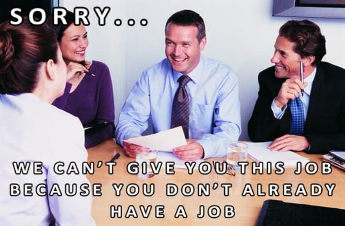 how getting a job works funny picture