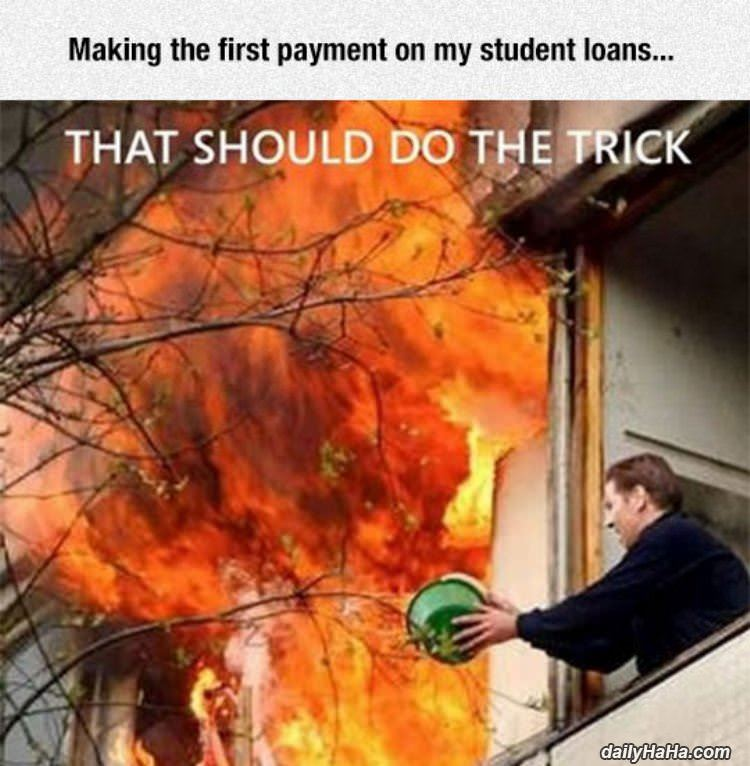 how student loans work funny picture