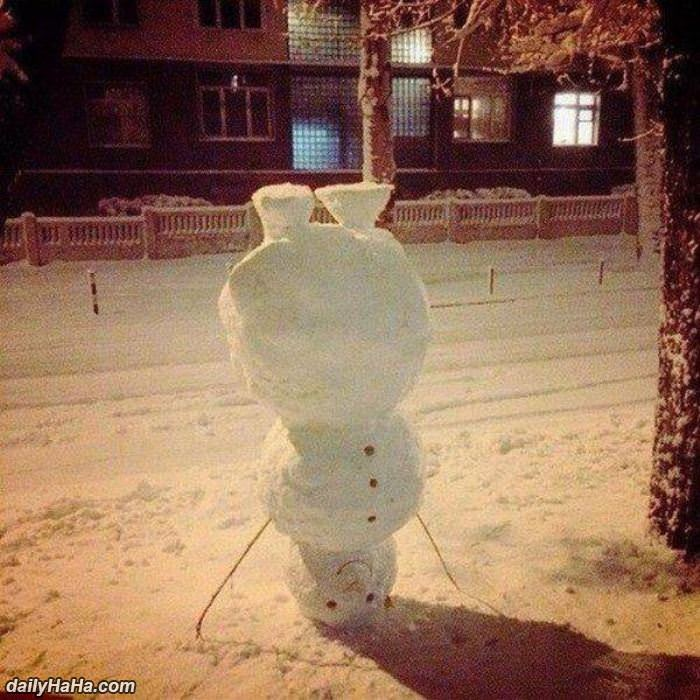 how to build a snowman funny picture