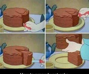 how to eat a cake funny picture