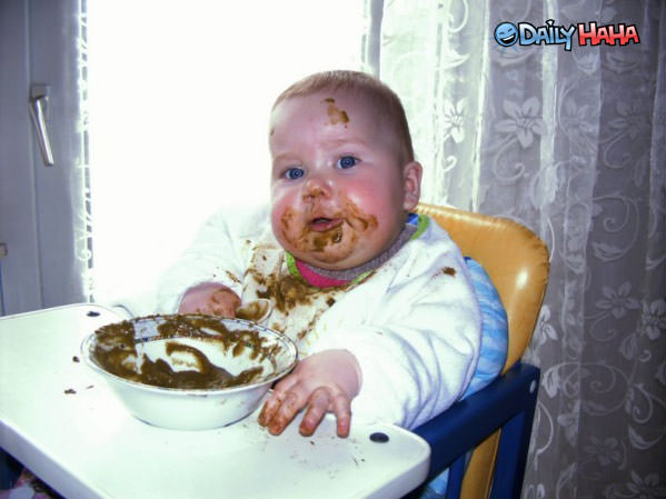 Baby Eating Food Funny