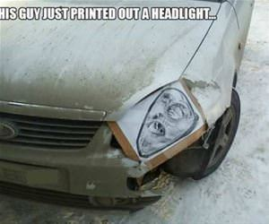 how to fix a headlight on the cheap funny picture