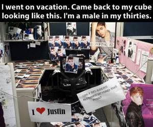 A Huge Bieber Fan funny picture
