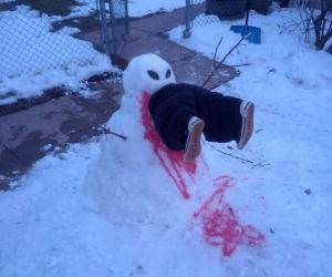 Hungy Snowman funny picture