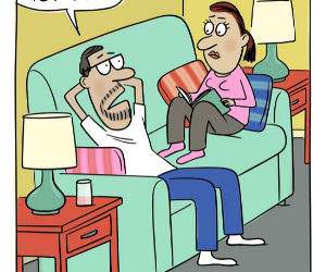 Husbands Feeling funny picture
