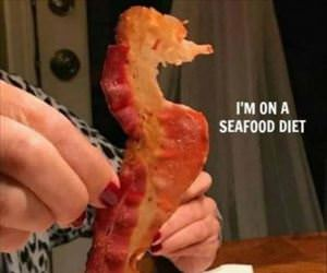 i am on a seafood diet