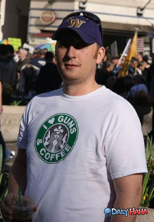 Guns and Coffee funny picture