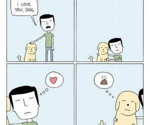 I Love You Dog funny picture
