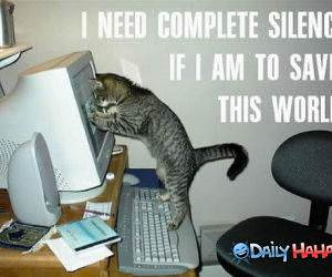 I Need Complete Silence funny picture