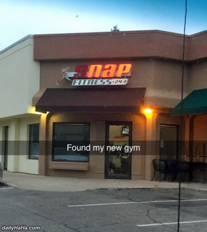 i found my new gym funny picture