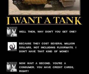 i want a tank logic funny picture