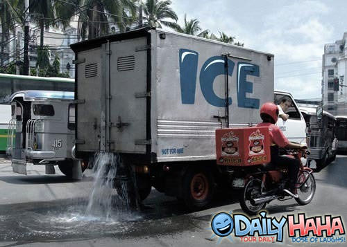 Ice Truck With Problems