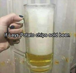 if lays potato chips sold beer