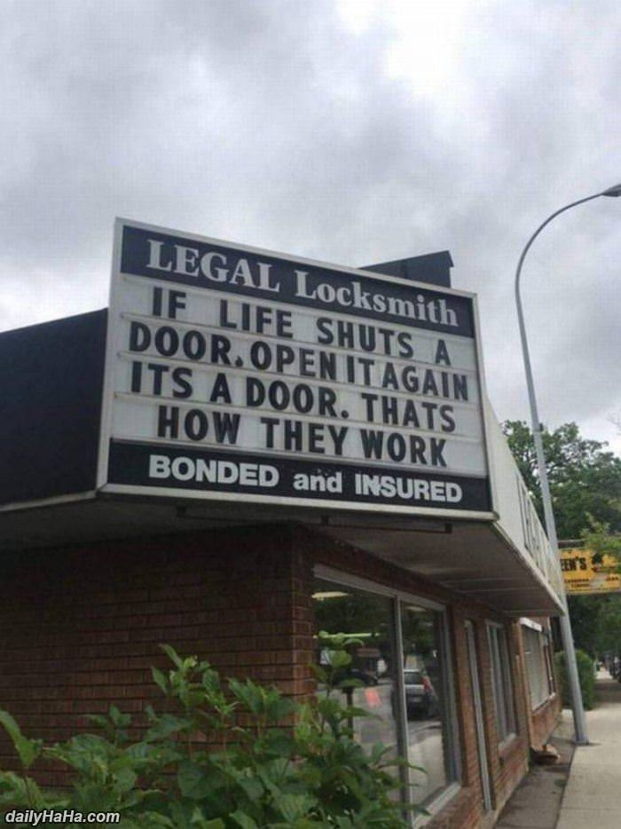 if life shuts a door funny picture