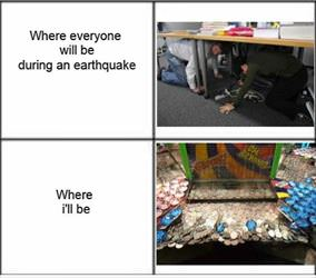 in case of an earthquake