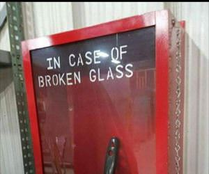 in case of broken glass