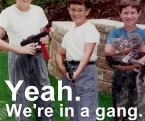 in a gang funny picture
