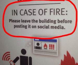 in case of fire funny picture