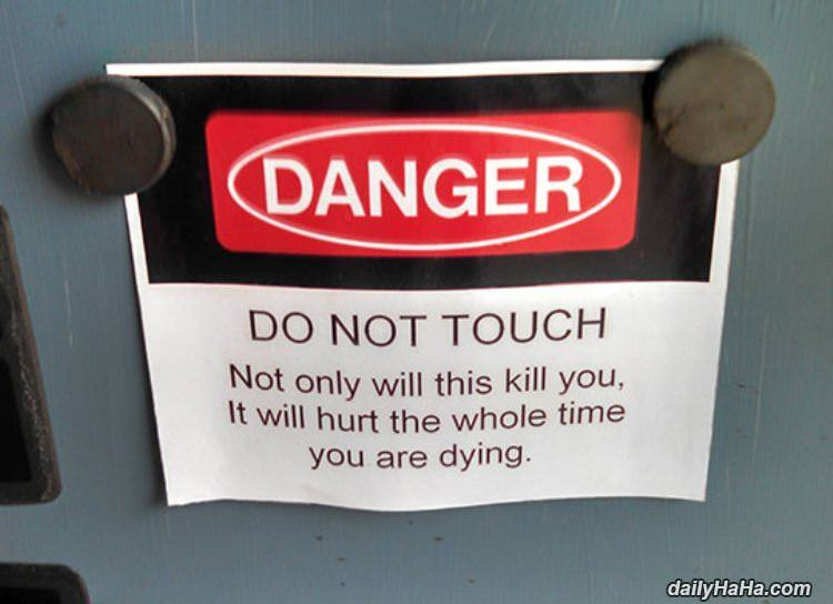 intense warning sign funny picture