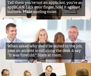 interview tips funny picture