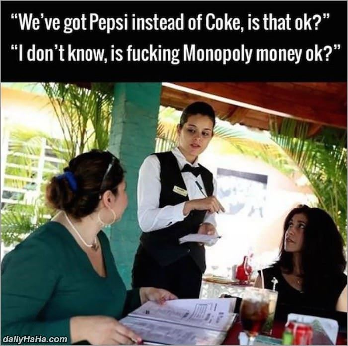 is pepsi ok funny picture