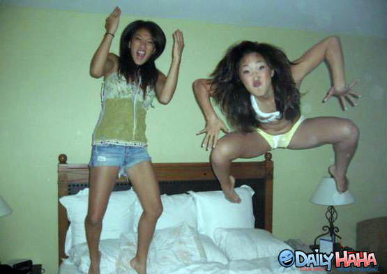 Jumping Asian Girls