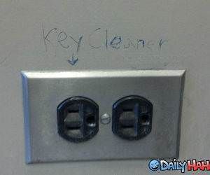Key Cleaner funny picture