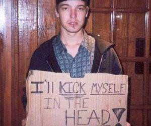 Kick Myself in the Head Funny Picture