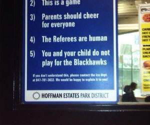 Kids Hockey Rules funny picture