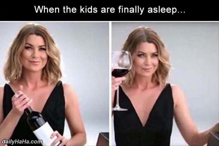 kids are finally asleep funny picture
