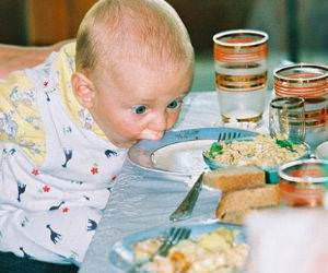 Really Hungry Baby Picture