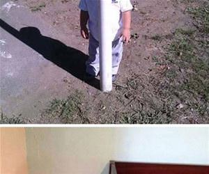 kids showing off hiding skills funny picture