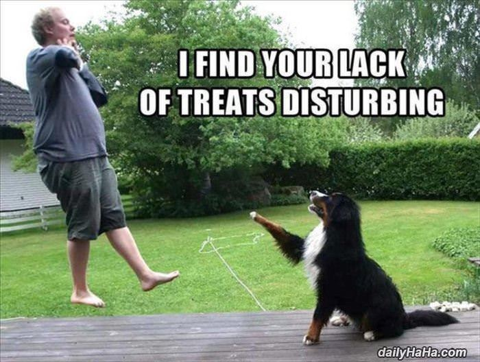 lack of treats funny picture