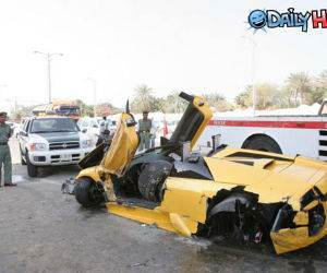 Lamborghini Destroyed