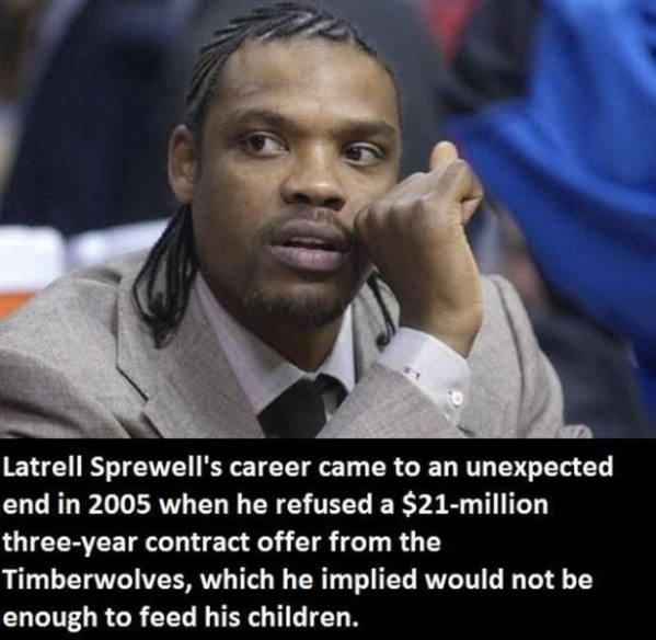 Latrell Sprewell funny picture