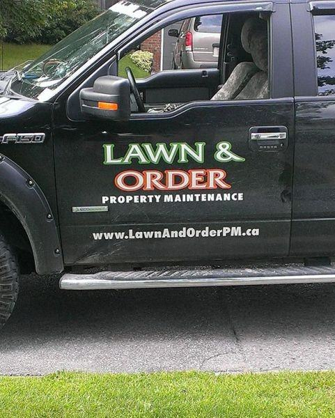 Lawn and Order funny picture