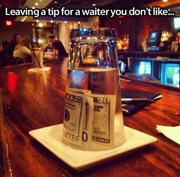 Leaving a Tip funny picture