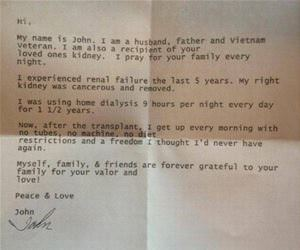 letter to an organ donor funny picture