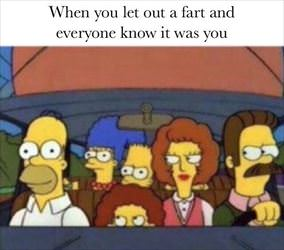 letting out a fart