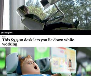 lie down while working funny picture