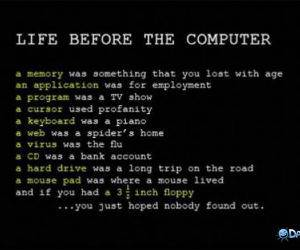 Life Before Computers funny picture