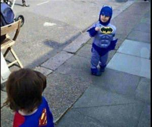 little batman vs superman funny picture