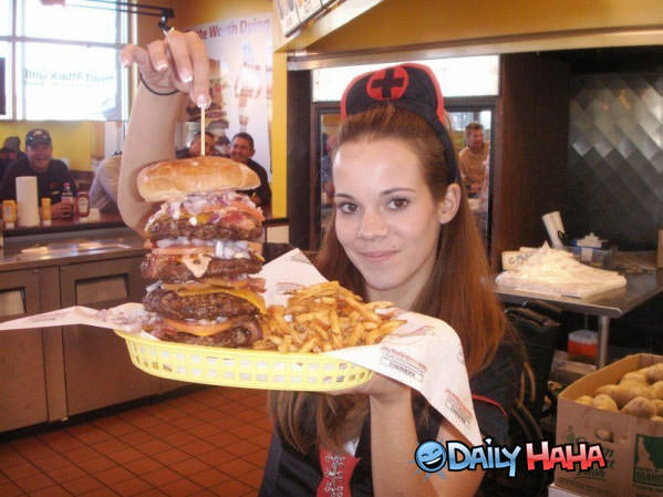 Giant Burger Funny Picture