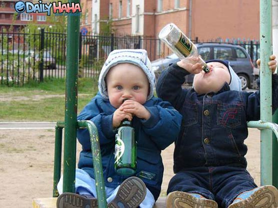 Little Kids Drinking