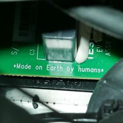 made on earth by humans