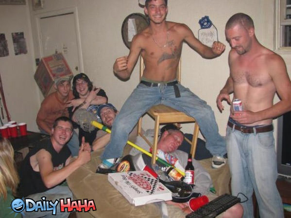 Major drunk party funny picture