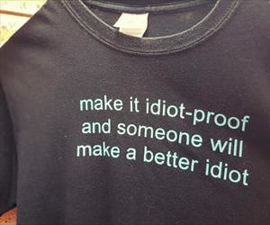 make it idiot proof