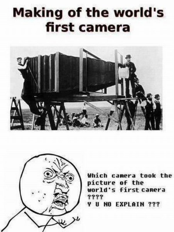 Making the First Camera funny picture