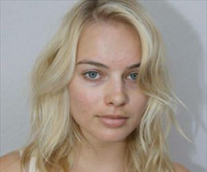 margot robbie without makeup