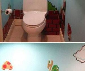 Mario Bathroom funny picture